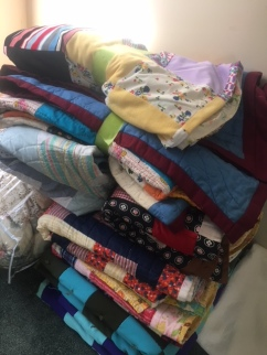 Huge variety of hand stitched quilts