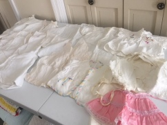 Large collection vintage infant clothing
