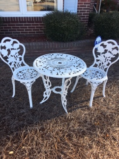 Outdoor wrought iron set
